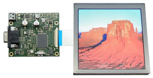 VGA-TFT, Platine und Display
