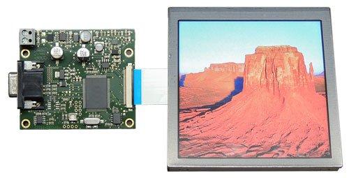 VGA-TFT, Platine und Display
